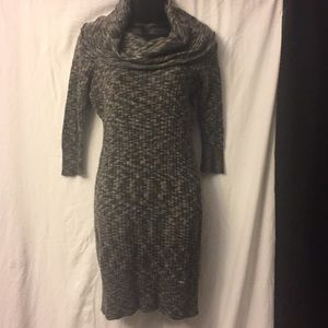 DKNY JEANS Sweater Dress Size M Grey